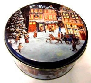 """Blechdose rund groß """"Weihnacht"""""""